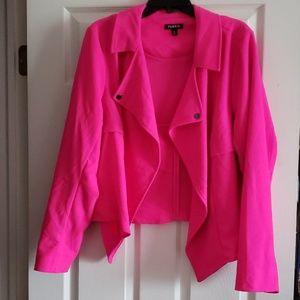 Bright pink crop jacket. Torrid size 2